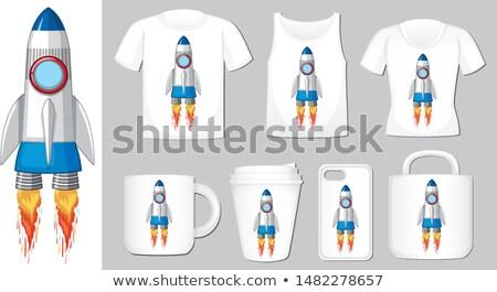 графических космический корабль различный продукт шаблон иллюстрация Сток-фото © bluering