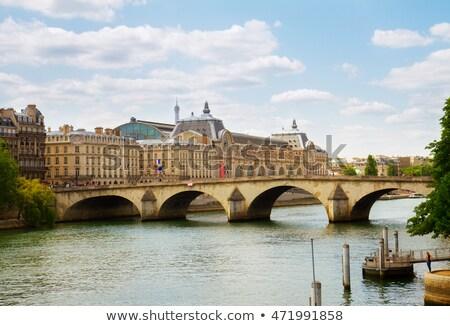most · Paryż · słoneczny · wieczór · Francja · niebo - zdjęcia stock © neirfy