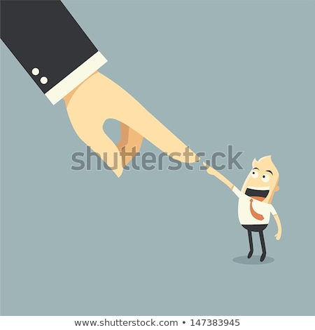 Businessman interacting and choosing a person from group of people interface Stock photo © wavebreak_media