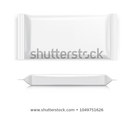 Biały opakowań czekolady opłatek inny żywności Zdjęcia stock © magraphics