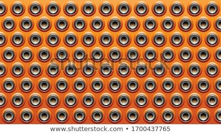 Black Grey and Orange Embossed Round Loudspeaker Background Vect Stock photo © cidepix