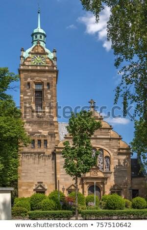 Церкви Германия протестантский дерево здании часы Сток-фото © borisb17