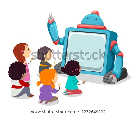 Robot storia ragazzi illustrazione grande schermo Foto d'archivio © lenm