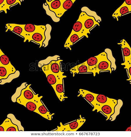 Cartoon cute scarabocchi pizza Foto d'archivio © balabolka