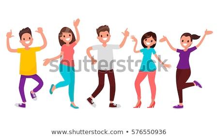 Danse divertissement homme femme déplacement vecteur Photo stock © robuart