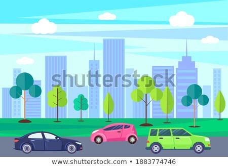 pad · achtergrond · gebouwen · stedelijke · architectuur - stockfoto © robuart