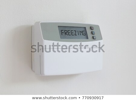 Vintage digital thermostat - Covert in dust - Freezing Stock photo © michaklootwijk