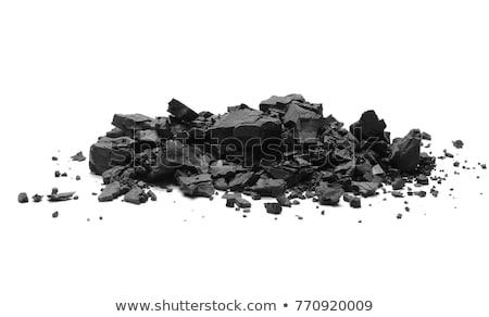 Black Coal Pile Isolated On White Background Stock photo © ThreeArt