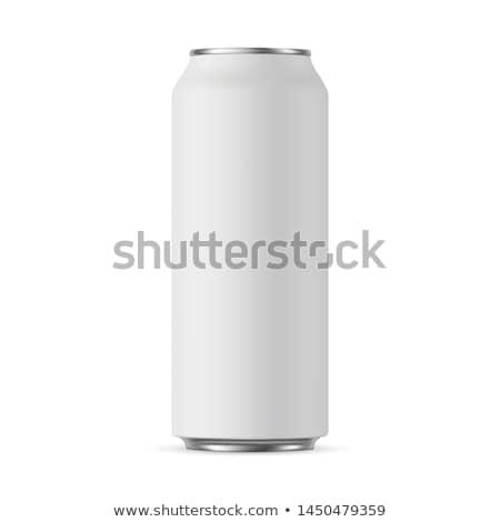 Blanco beber pueden uno aislado 3d Foto stock © make