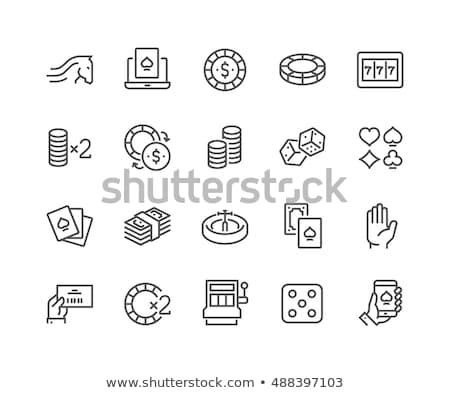 Póker fogadás hazárdjáték ikon vektor vékony Stock fotó © pikepicture