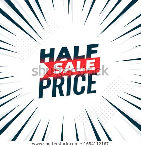 Fél ár vásár szalag zoom vonalak Stock fotó © SArts