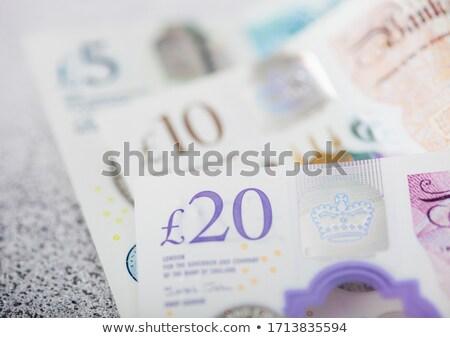 New twenty pounds banknotes close up on light background.  Stock photo © DenisMArt