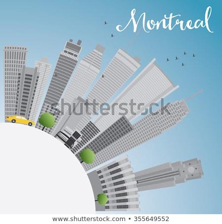 Montreal linha do horizonte cinza edifícios blue sky cópia espaço Foto stock © ShustrikS