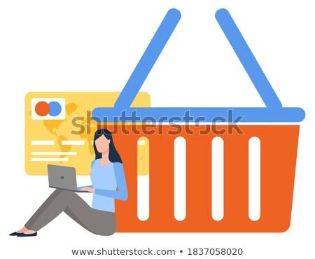 базарная площадь онлайн логистика всемирный ПК вектора Сток-фото © robuart