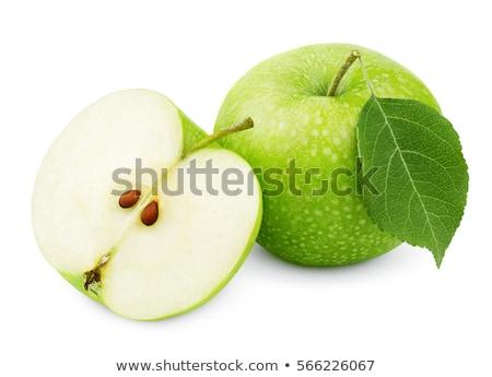 Oma appels bladeren geïsoleerd witte groene Stockfoto © ThreeArt