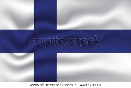 Finland vlag hand witte vrijheid lint Stockfoto © butenkow