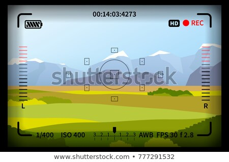 Landschap reflex foto camera frame Stockfoto © evgeny89