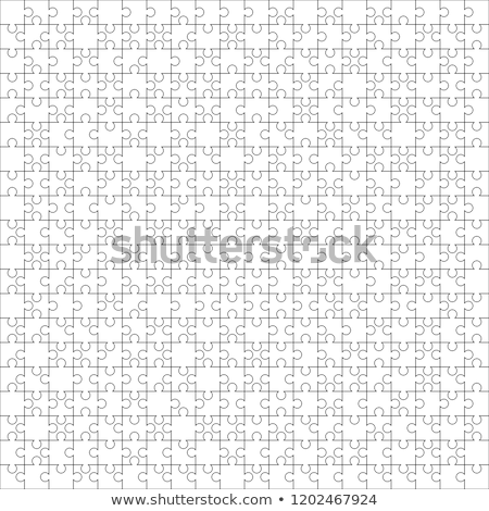 400 white puzzles pieces arranged in a square. Jigsaw Puzzle template ready for print. Cutting guide Stock photo © evgeny89
