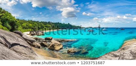 Szigetek Thaiföld panoráma trópusi tájkép nyár Stock fotó © bloodua