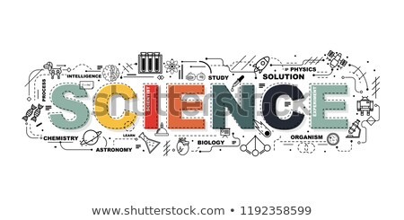 Science fair word concept banner design Stock photo © barsrsind