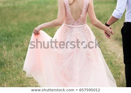 красивой розовый подвенечное платье подвесной дерево дома Сток-фото © ruslanshramko