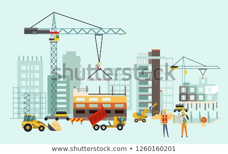 Stock photo: Excavator under constructed