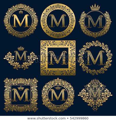 буква М монограмма логотип корона дизайна Сток-фото © SArts