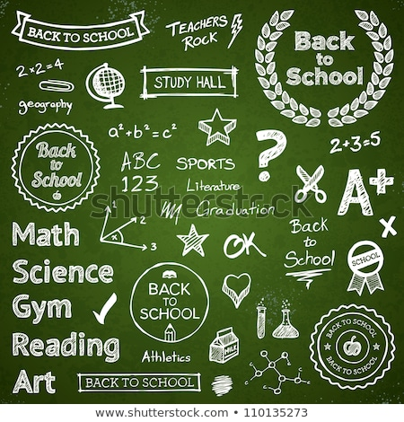 Green Chalkboard Grade School Stock photo © limbi007