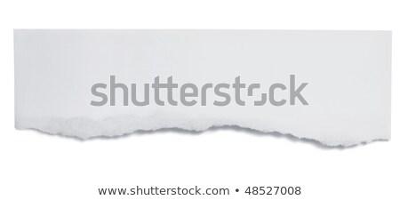Szakadt papír szalag fehér kék szín papír Stock fotó © SArts