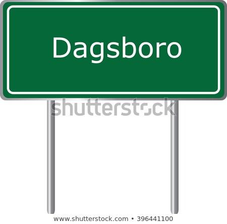 Сток-фото: Делавэр · шоссе · знак · высокий · разрешение · графических · облаке