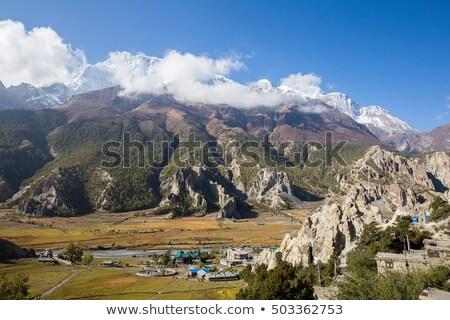 Nepal arid mountains Stock photo © smithore