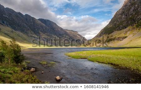 Küçük nehir scottish highlands su kaya Stok fotoğraf © gewoldi