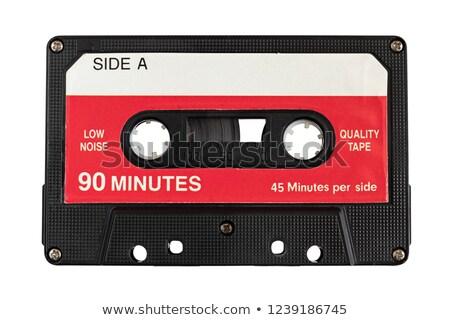 Old fashioned audio tape cassettes background Stock photo © deyangeorgiev