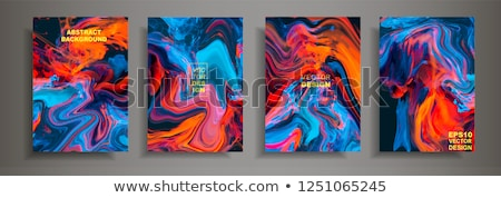 abstract colorful wave flayer Stock photo © rioillustrator