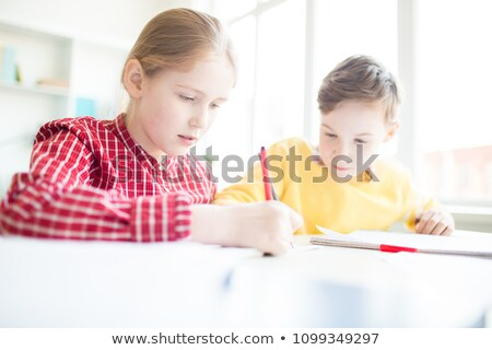 Two students carrying schoolwork Stock photo © photography33