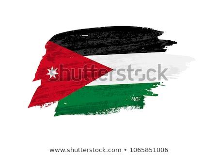 Grunge bayrak Ürdün eski bağbozumu grunge texture Stok fotoğraf © HypnoCreative