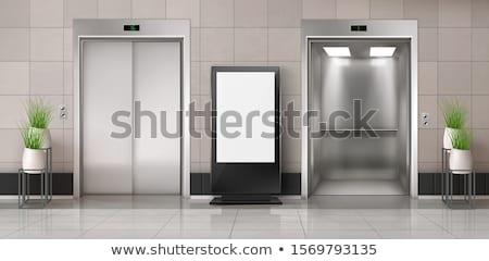オープン · エレベーター · フロント · 表示 · 現代 · ロビー - ストックフォト © creisinger