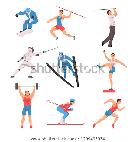 Athlete Fencers Stock photo © sahua