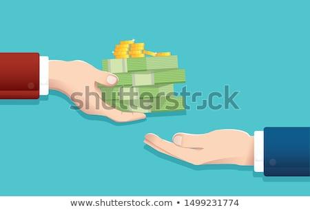 Businessman paying in dollars Stock photo © stevanovicigor