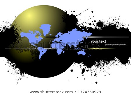 Grunge blot banner with earth image. Vector illustration Stock photo © leonido