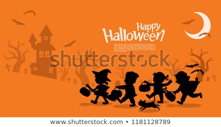 child dressed as devil for halloween stock photo © photography33