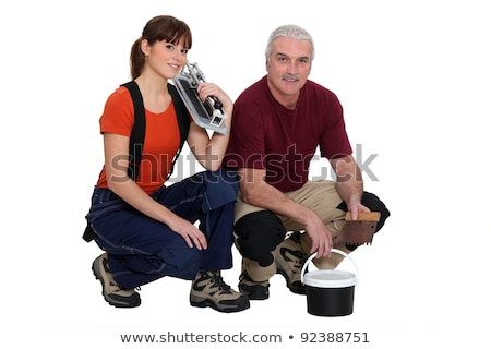 A team of tile fitters Stock photo © photography33