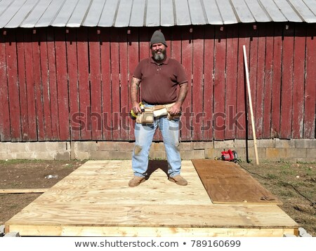 Chubby carpenter Stock photo © photography33