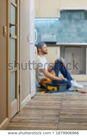 Artesano sesión caja de herramientas ajustable Foto stock © photography33