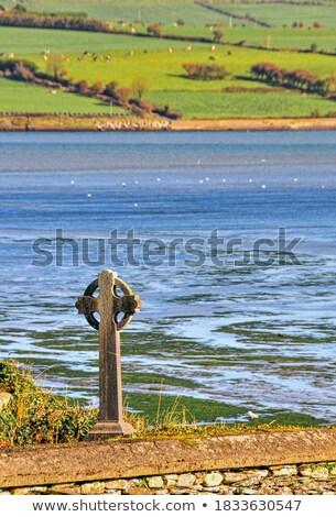 Сток-фото: старые · кельтской · луговой · сельский · Шотландии · облака