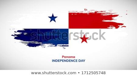 Grunge Panama vlag land officieel kleuren Stockfoto © speedfighter