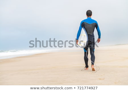 Surfer With His Board Foto stock © homydesign