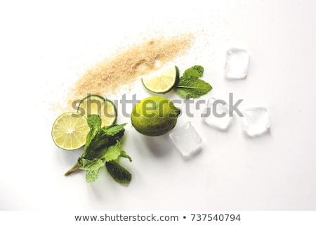 friss · citrus · citrom · menta · jégkockák · izolált - stock fotó © karandaev