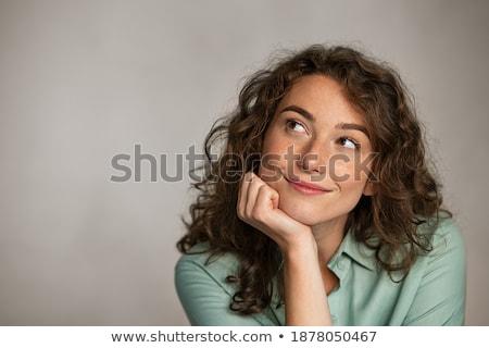 Figyelmes üzletasszony kéz áll fehér nő Stock fotó © wavebreak_media