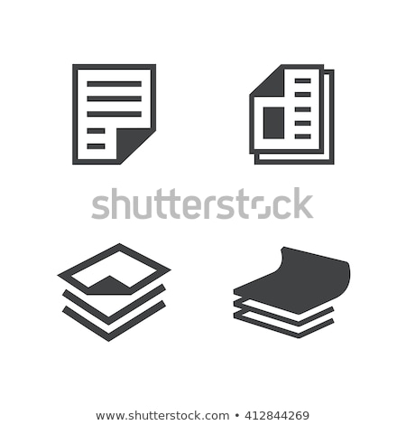 Papieren icon papier achtergrond sticker bericht Stockfoto © Myvector